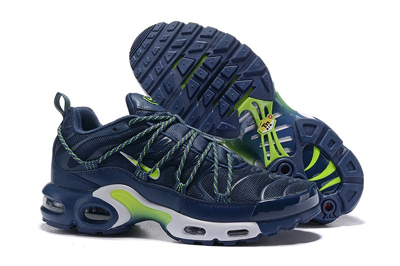 brand new f1f22 0214b Best Sell Nike Air Max Plus TN Men's Resistant Breathable Sneakers Dark  Blue/White-Green