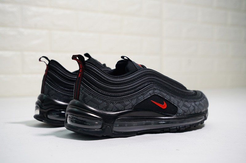 d7f1d69f730 Discount Nike Air Max 97 Black University Red-Black AR4259-001 Men s  Running Shoes