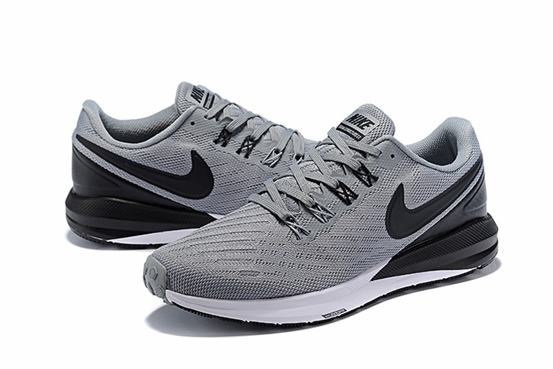High Quality Nike Air Zoom Structure 22 Men s Black Wolf Grey-White Running Shoes  AA1636-630 45a342370