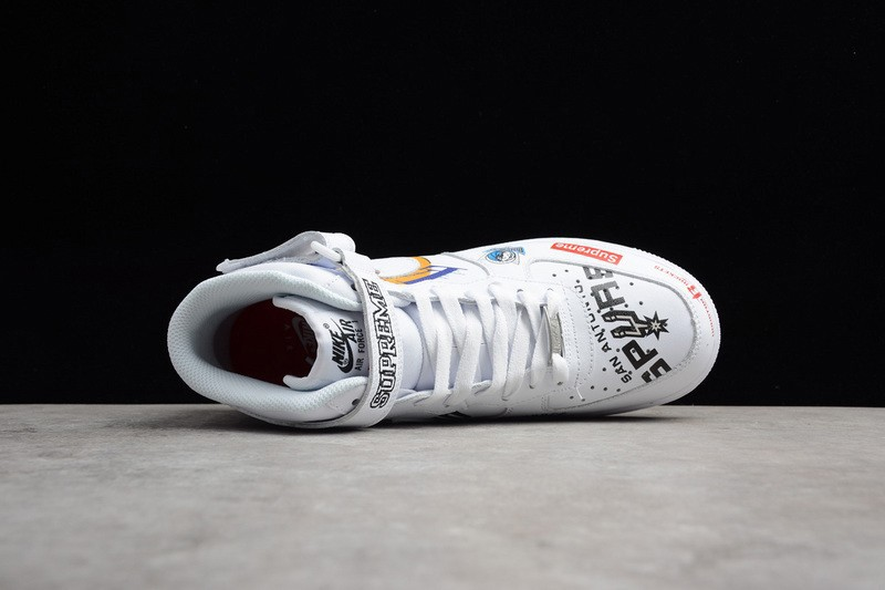 best service 5e739 ae2c2 New Arrival Supreme x Nike Air Force 1 High Mid 07 AQ8017-100 White White  Sneakers Hot Sale