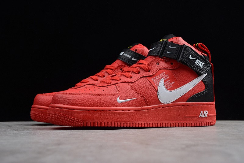 Force White Air Nike 105 1 Resistant High 804609 Redblack Sneakers Gym Breathable 5j4R3AqL