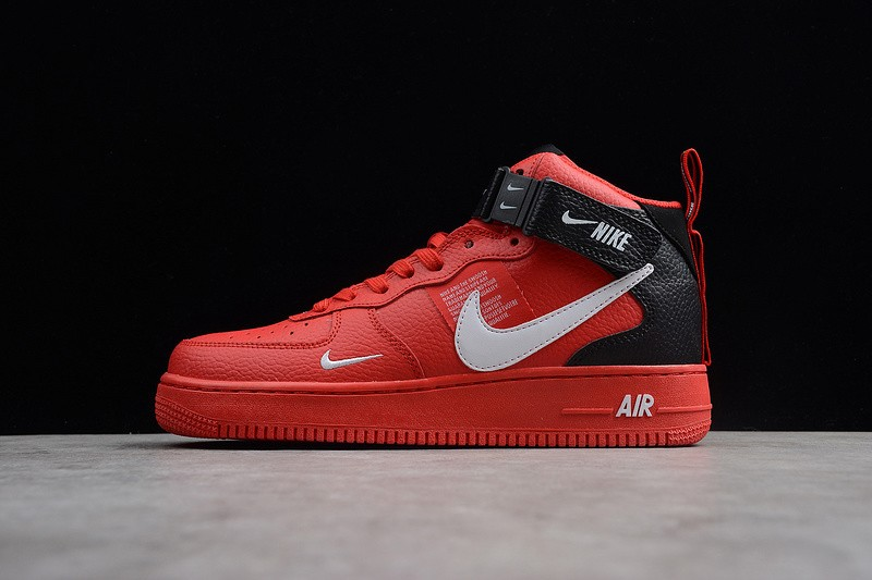 free shipping 01640 e271c Nike Air Force 1 High 804609-105 Gym Red/Black-White Resistant Breathable  Sneakers