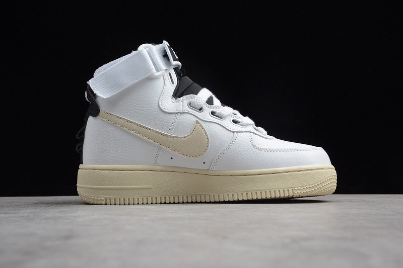 low priced a2078 eae3d Nike Air Force 1 High Utility White Light Cream-Black Newest Skateboarding Shoes  AJ7311-100