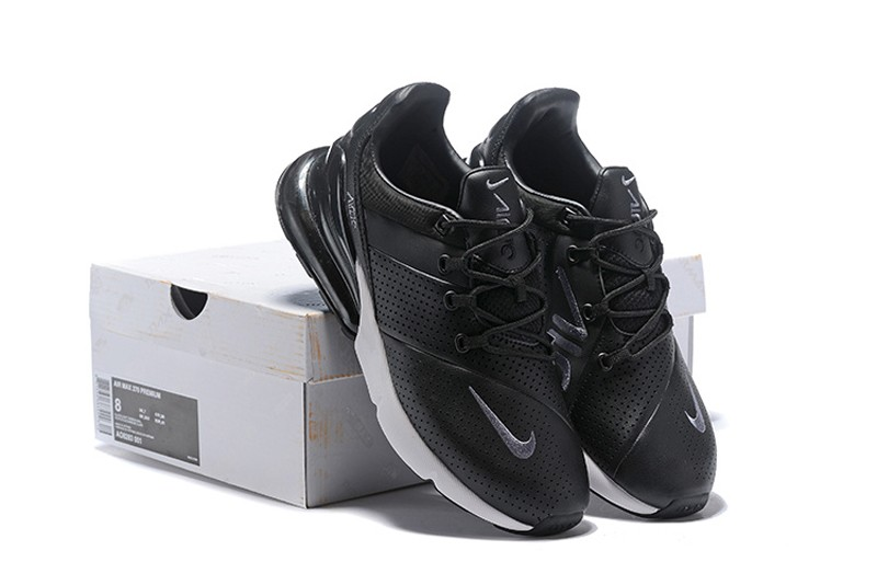 a4ec473aee Nike Air Max 270 Premium Men's Running Shoes AO8283-001 Black/Black-White  ...