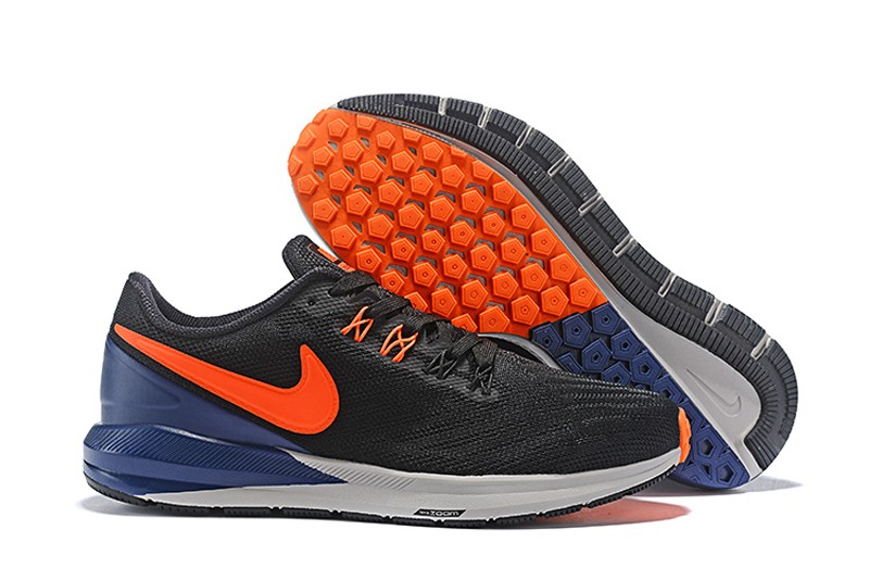 outlet store db444 20161 Nike Air Zoom Structure 22 AA1636-300 Men's Running Shoes Black/Orange-Dark  Blue Free Shipping