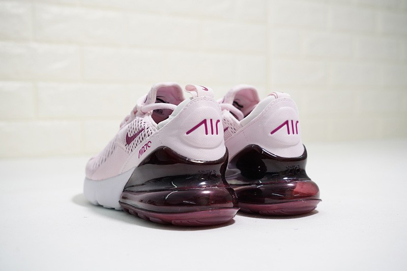 Nike Wmns Air Max 270 Running Shoes Barely Rose Vintage Wine-Elemental Rose- White ... 8e7fba16b