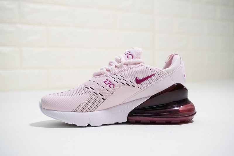 bb210dea6a1a Nike Wmns Air Max 270 Running Shoes Barely Rose Vintage Wine-Elemental Rose- White ...