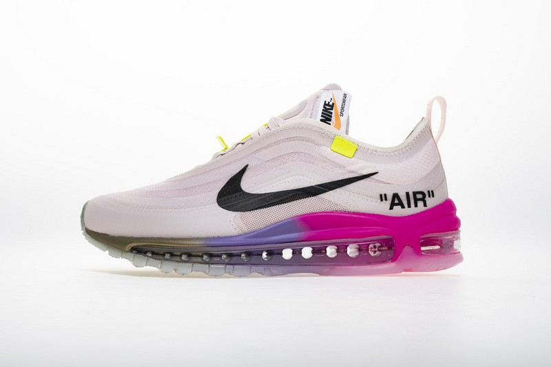 0f640943b3162 Off-White x Nike Wmns Air Max 97 Elemental Rose/Barely Rose-White ...