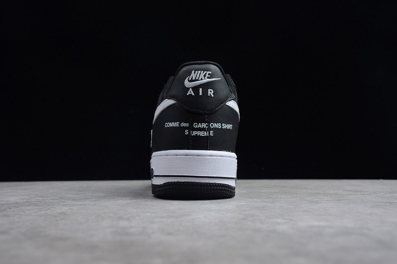 c438b3e7194 Supreme x CdG SHIRT x Nike Air Force 1 Black White Breathable ...