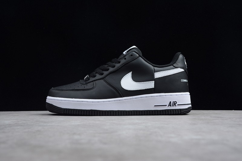 best service 83471 0cfaa Supreme x CdG SHIRT x Nike Air Force 1 Black/White Breathable Lightweight  Sneakers AR7623-001
