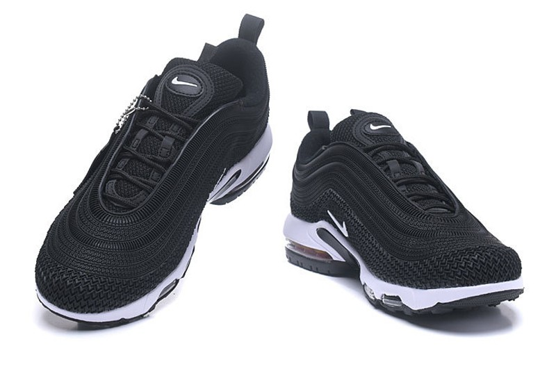 best website 6708f dd3fc Discount Nike Air Max 97 Plus TN Men's Black/White Fashion Resistant  Breathable Sneakers