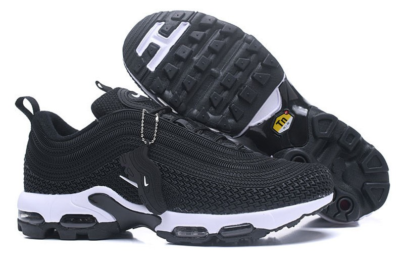 best website 07ce0 ac051 Discount Nike Air Max 97 Plus TN Men's Black/White Fashion Resistant  Breathable Sneakers