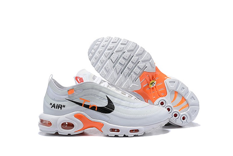 2020 Discount Nike Air Max Plus Tn X Off White White Black Orange