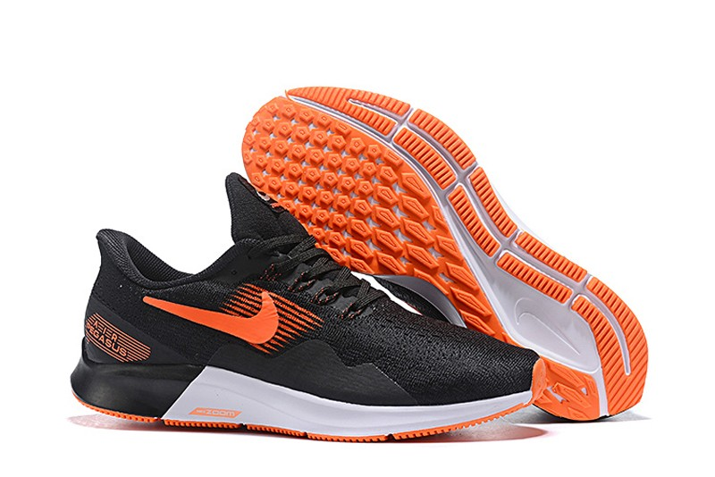 buy popular 86ec3 6a664 Discount Nike Air Zoom Pegasus 35 Men's Black/Orange-White Sports Life  Shoes AQ2792-002