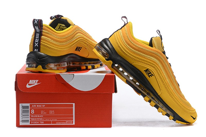 a83350ddb08e New Arrival Men s Nike Air Max 97 Premium Ginger Yellow Black Resistant  Breathable Sneakers ...
