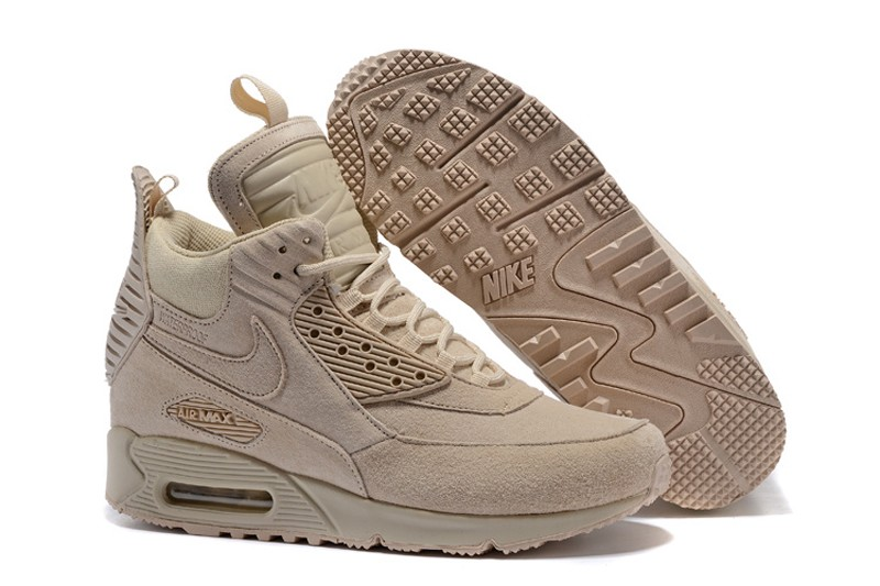 online store cf7af 7eefa Nike Air Max 90 Winter Suede Sneakerboot Mens Beige Sports L