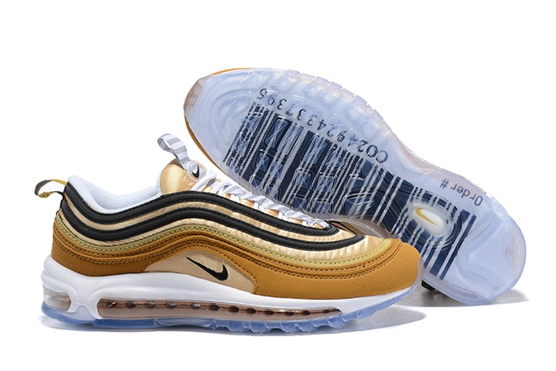 outlet store c660a 67f2e Nike Air Max 97 Men's Sports Life Classic Shoes 921826-201 Ale  Brown/Black-Elemental Gold