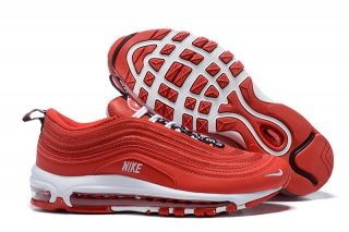d25fc135a11743 Nike Air Max 97 Premium Men s University Red White Sports Life Classic Shoes  Free Shipping