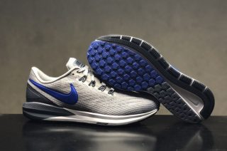 fb90f808851558 Nike Air Zoom Structure 22 Men s Wolf Grey Blue Resistant Lightweight  Sneakers AA1636-003