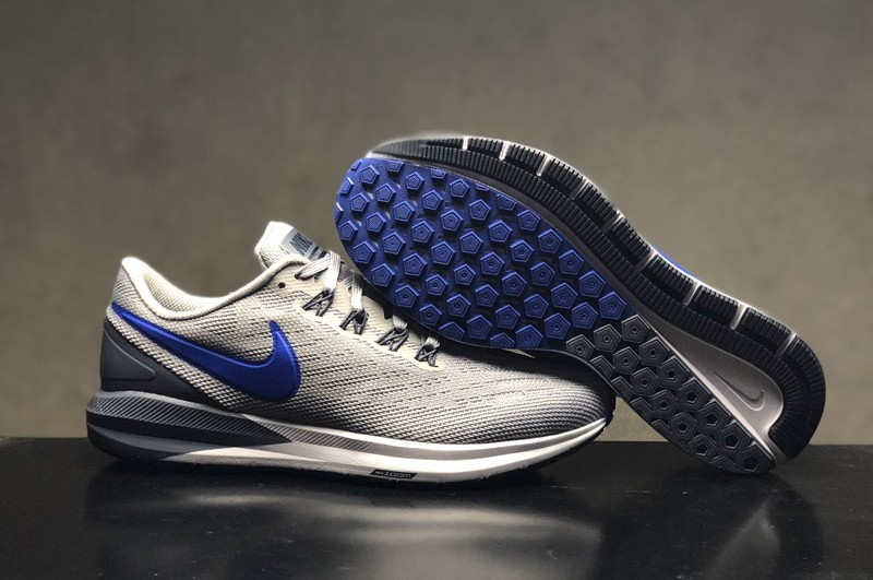 Nike Air Zoom Structure 22 Men s Wolf Grey Blue Resistant Lightweight Sneakers  AA1636-003 6c79fc002
