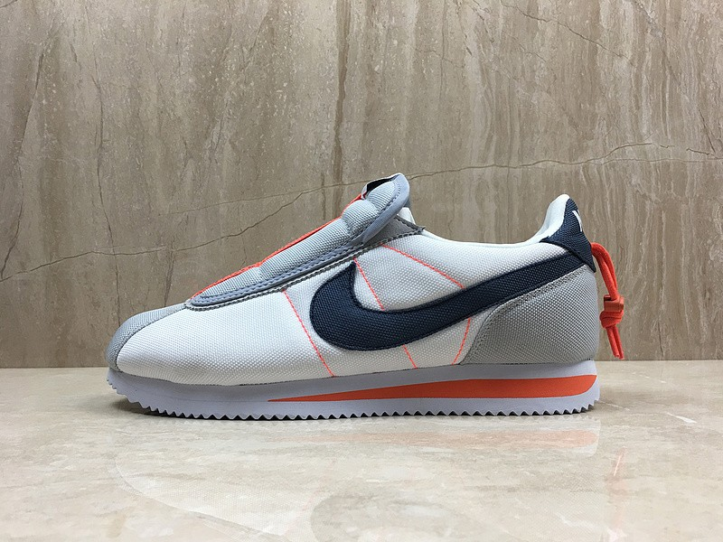 reputable site f8c0e f0afa Nike Cortez Basic Slip x Kendrick Lamar White/Thunder Blue-Wolf Grey-Turf  Orange Sports Life Shoes AV2950-100