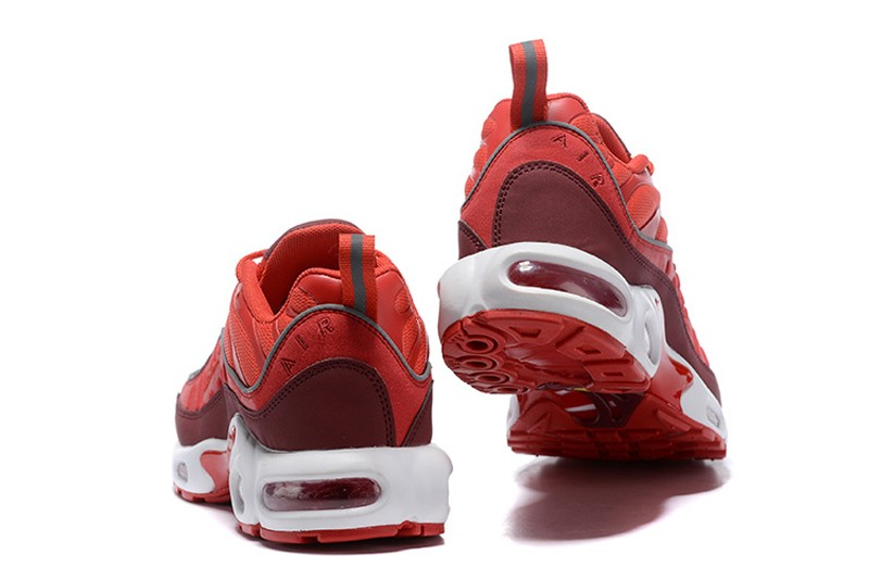 reputable site bed5e 85f3d 2019 New Release Nike Air Max Plus TN Men's Gym Red/White-Wine Red  Resistant Breathable Sneakers