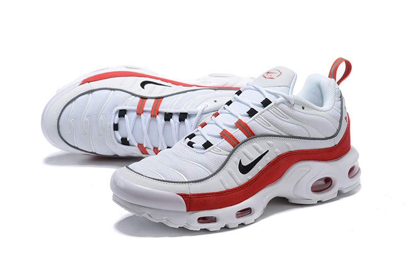 ebe888ffc8b50 Best Sell Nike Air Max Plus TN White Black-University Red Men s ...