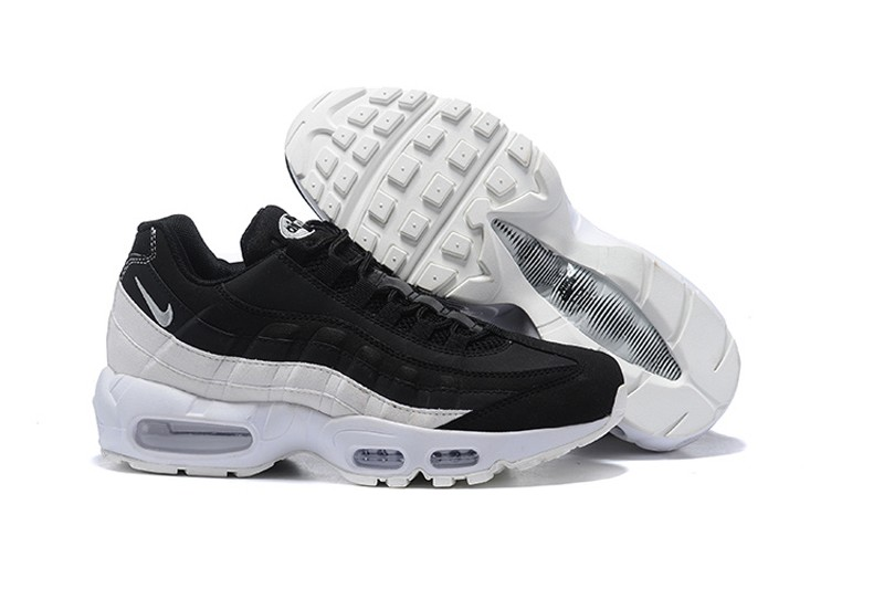 Nike Air Max 95 Men S Black White Wolf Grey Resistant Breathable