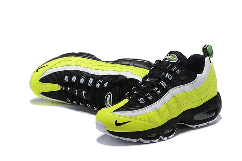 b16826406ae Nike Air Max 95 Men s Volt Black-Volt Glow-Barely Volt Resistant Breathable  Sneakers 538416-701