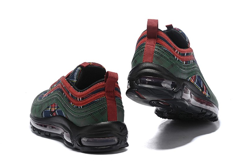 "79c4f0f2c2b Nike Air Max 97 QS ""Corduroy"" Team Red Midnight Spruce Men s Sports Life  Shoes Hot Sale AT6145-600"