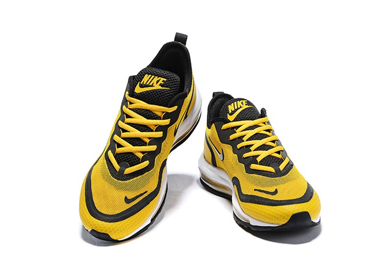 2019 Nike Air Max 97 UL'17 SE Men's Shoes Ginger YellowBlack Breathable Lightweight Sneakers
