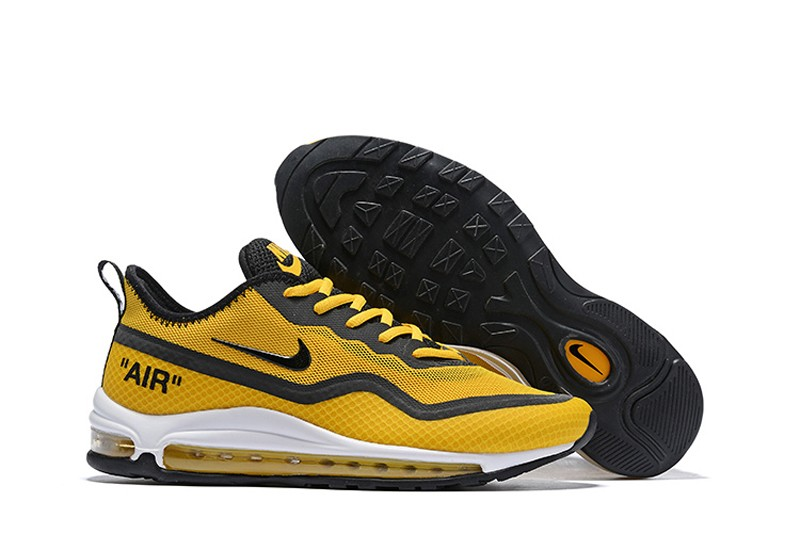 newest 26709 75cd7 2019 Nike Air Max 97 UL'17 SE Men's Shoes Ginger Yellow/Black Breathable  Lightweight Sneakers