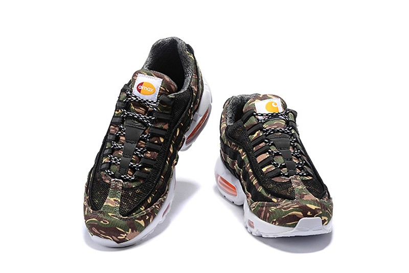 the best attitude 5ce2b 04a9b Carhartt x Nike Air Max 95 WIP Black/Camo Green-White Men's Resistant  Sneakers AV3866-001