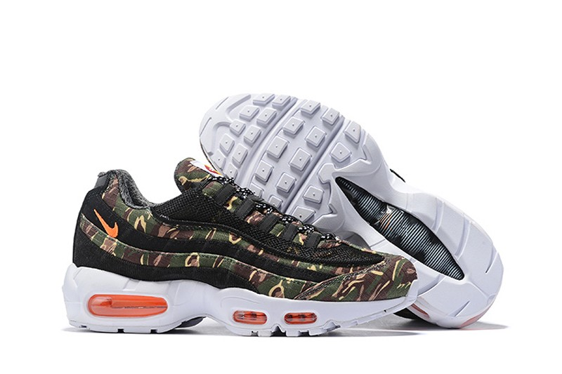 the best attitude aa90a ec2ad Carhartt x Nike Air Max 95 WIP Black/Camo Green-White Men's Resistant  Sneakers AV3866-001
