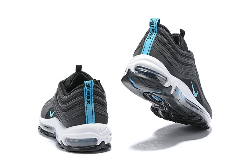90c623fd6af30 Nike Air Max 97 Men's Breathable Sneakers BV1985-001 Black/Blue Fury-Dark  ...