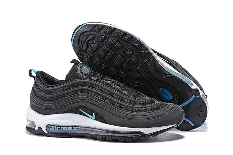 Nike Air Max 97 Men S Breathable Sneakers Bv1985 001 Black Blue