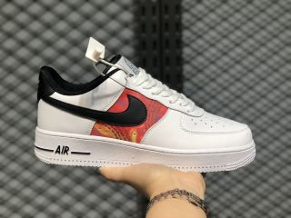 2020 Latest Nike Air Force 1 Low White/Multi-Color/Black CU4734-100