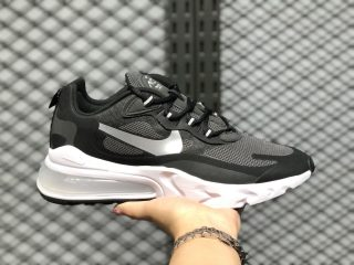 2020 Latest Nike Air Max 270 React Black/Metallic Silver CQ4598-071