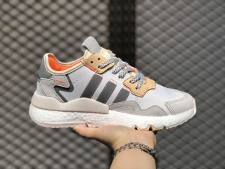2020 Online Buy Adidas Nite Jogger Cloud White/Linen-Glow Orange EF5426