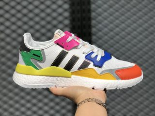 Adidas Nite Jogger 2020 Boost Cloud White/Black-Rainbow FY9023 Online Sale