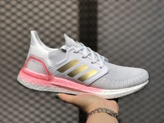 Adidas Ultra Boost 2020 WMNS Crystal White/Copper Metallic-Light Flash Red EG0724