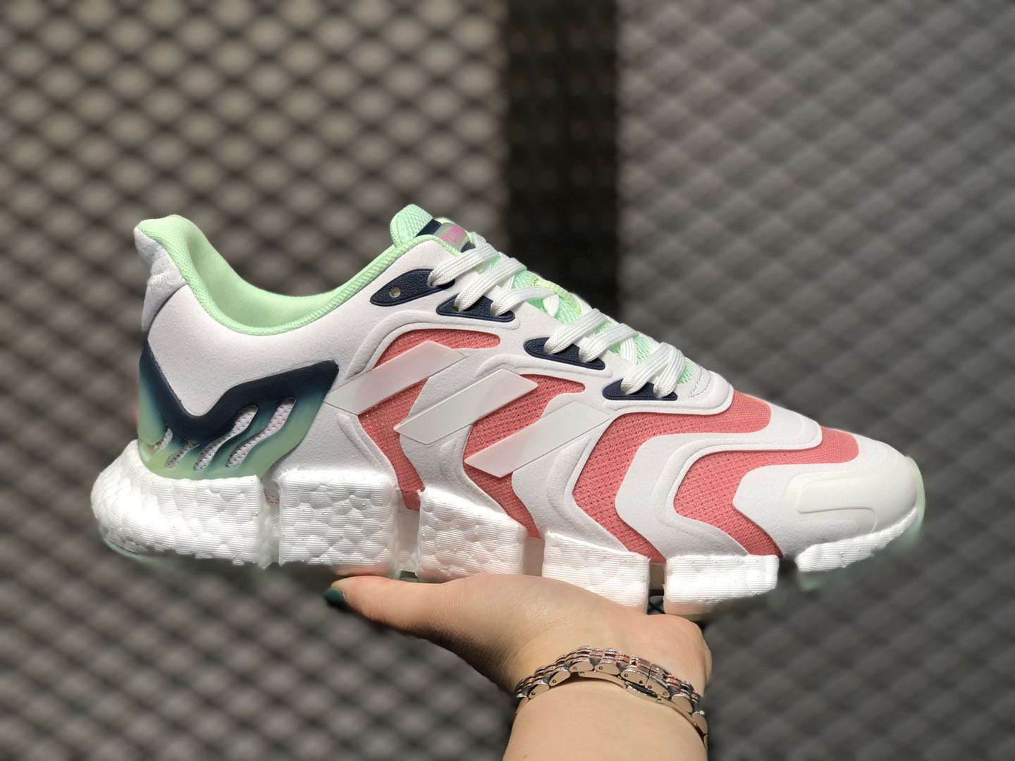 Adidas Wmns Climacool Cloud White/Pink-Green Running Shoes To Buy FX7849