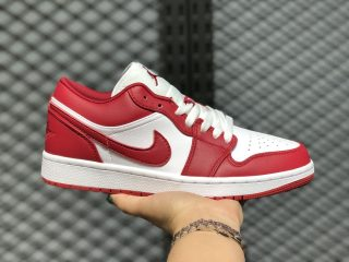 Air Jordan 1 Low Gym Red/Gym Red/White 2020 Latest Men's Shoes 553558-611