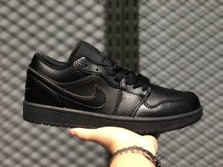 Air Jordan 1 Low Triple Black 2020 Latest Style Life Classic Shoes 553558-091