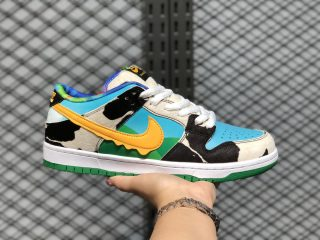 "Ben & Jerry's x Nike SB Dunk Low ""Chunky Dunky"" White/Lagoon Pulse-Black-University Gold CU3244-100"