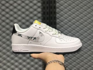"Best Sell Nike Air Force 1 Low GS ""Daisy"" White/Yellow-Black CW5859-100"