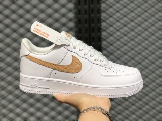 Nike Air Force 1 Low White/Club Gold Life Classic Shoes CW7567-101