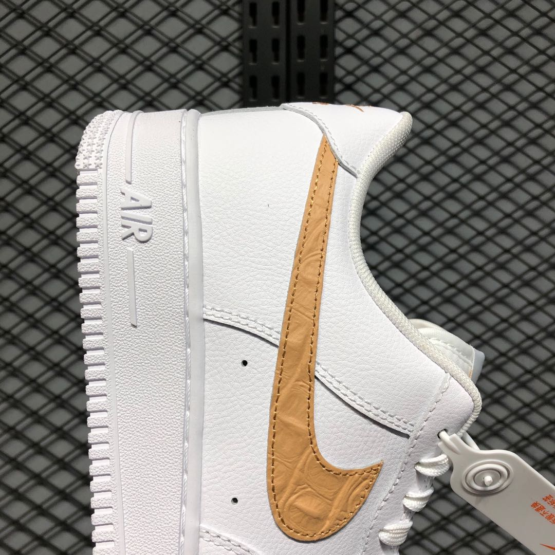 Nike Air Force 1 Low White/Club Gold Life Classic Shoes CW7567-101 ...
