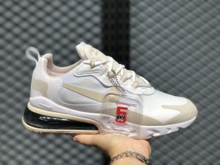 Nike Air Max 270 React WMNS CJ0619-102 Summit White/Light Orewood Brown