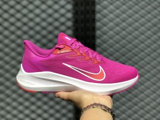 Nike Air Zoom Winflo 7 Pink/Cloud White-Red CJ0302-600 Women's Life Casual Shoes